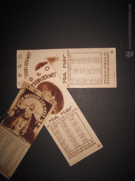 Cine: LA DUEÑA DEL MUNDO - DIE HERRIN DER WELT - CALENDARIO 1920 -VER FOTOS- 10X 24 CM- 4 HOJAS - (C-2341) - Foto 2 - 52842521