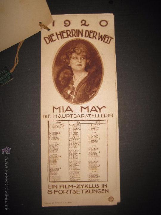 Cine: LA DUEÑA DEL MUNDO - DIE HERRIN DER WELT - CALENDARIO 1920 -VER FOTOS- 10X 24 CM- 4 HOJAS - (C-2341) - Foto 3 - 52842521