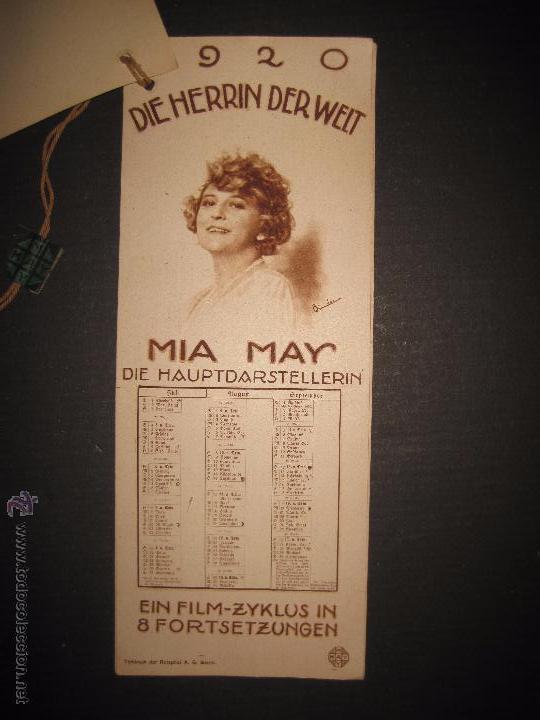 Cine: LA DUEÑA DEL MUNDO - DIE HERRIN DER WELT - CALENDARIO 1920 -VER FOTOS- 10X 24 CM- 4 HOJAS - (C-2341) - Foto 4 - 52842521