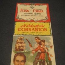 Cine: LA ISLA DE LOS CORSARIOS 1953 - ERROL FLYNN, ANTHONY QUINN - CINE DORADO - UNIVERSAL - TROQUELADO. Lote 52849865