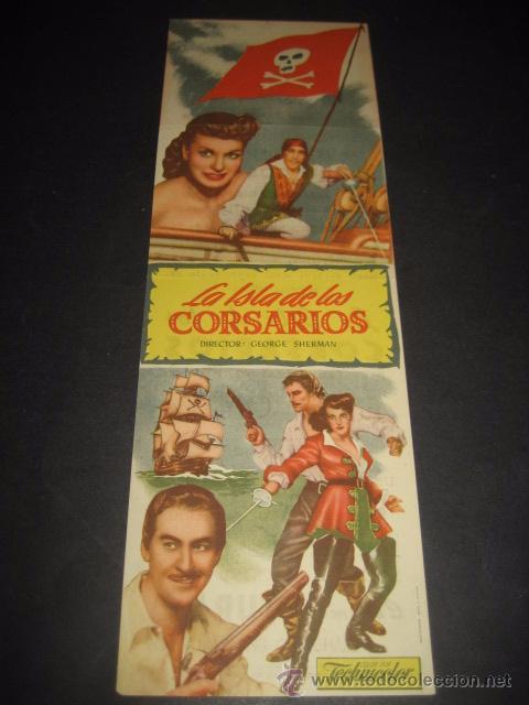 Cine: LA ISLA DE LOS CORSARIOS 1953 - ERROL FLYNN, ANTHONY QUINN - CINE DORADO - UNIVERSAL - TROQUELADO - Foto 3 - 52849865