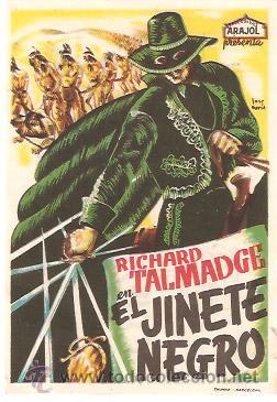 EL JINETE NEGRO (CON PUBLICIDAD) (Cine - Folletos de Mano - Westerns)