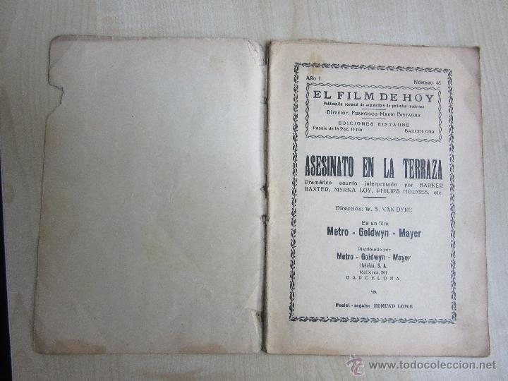 Cine: Folleto de Asesinato en la terraza de 1933 32 páginas - Foto 2 - 52889635