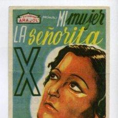 Cine: MI MUJER LA SEÑORITA X, CON IREN AGAR.. Lote 52973020