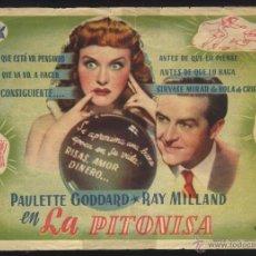 Cine: P-5850- LA PITONISA (THE CRYSTAL BALL) (TEATRO PRINCIPAL) (RAY MILLAND - PAULETTE GODDARD). Lote 53039207