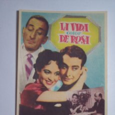 Cine: FOLLETO DE MANO LA VIDA COLOR DE ROSA (VIRGINIA LUQUE / FIDEL PINTOS). Lote 53050363