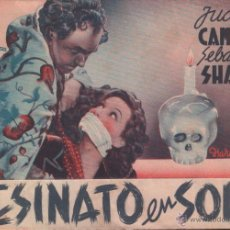 Cine: ASESINATO EN SOHO - PROGRAMA DOBLE DE ESTRELLA AZUL SIN PUBLICIDAD, RF-294. Lote 53057544