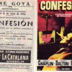 Cine: FOLLETO DE MANO CONFESION . CINE GOYA ZARAGOZA. Lote 55890640