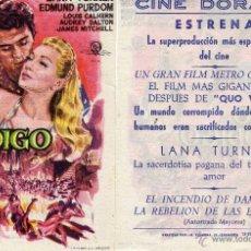 Cine: FOLLETO DE MANO EL HIJO PRODIGO. CINE DORADO ZARAGOZA. Lote 53059002