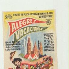 Cine: ALEGRES VACACIONES. SENCILLO DE BALET Y BLAY.. Lote 53060131