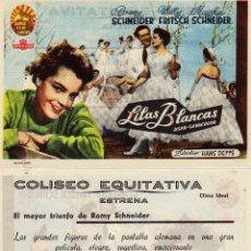 Cine: FOLLETO DE MANO LILAS BLANCAS . COLISEO EQUITATIVA ZARAGOZA. Lote 263100665