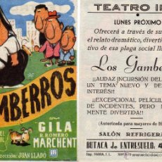Cine: FOLLETO DE MANO LOS GAMBERROS . TEATRO IRIS ZARAGOZA. Lote 53115564