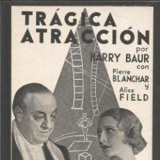 Cine: TRAGICA ATRACCION - DOBLE - CINEMA DEL ATENEU LLIBERTARI - (C-2356). Lote 53121453