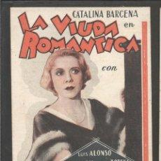Cine: LA VIUDA ROMANTICA - TARJETA CARTON - TEATRE EUTERPE - (C-2365). Lote 53121989