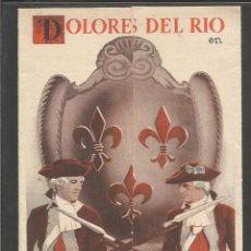Cine: MADAME DU BARRY - DOBLE - DOLORES DEL RIO - (C-2371). Lote 53122225