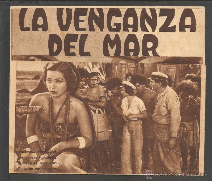 LA VENGANZA DEL MAR - DOBLE - CINE PRINCIPAL - (C-2373) (Cine - Folletos de Mano - Terror)