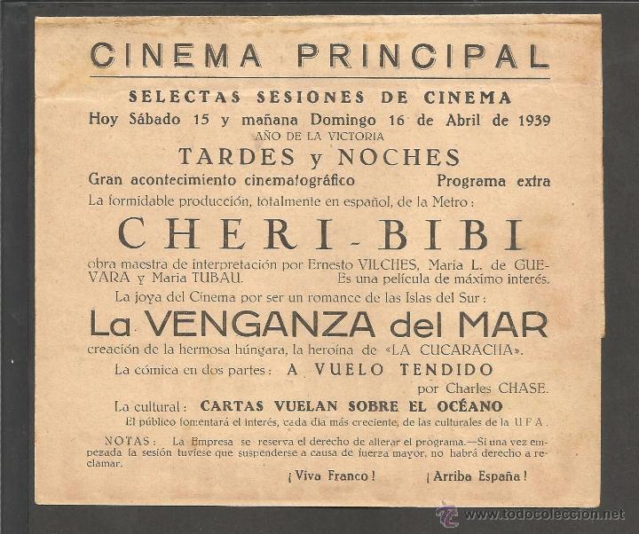 Cine: LA VENGANZA DEL MAR - DOBLE - CINE PRINCIPAL - (C-2373) - Foto 3 - 53122300