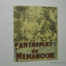Cine: PROGRAMA DOBLE FANTASMAS DE MEDIANOCHE.-PUBLICIDAD CENTRO VENDRELLENSE.-TARRAGONA. Lote 53124922