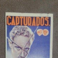 Cine: PROGRAMA DE CINE --CAPTURADOS. Lote 53139138