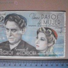Cine: UNOS PASOS DE MUJER - 1946. Lote 53151568