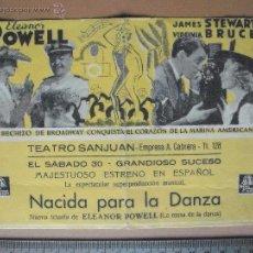 Cine: NACIDA PARA LA DANZA - 1943. Lote 53161655
