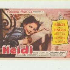 Cine: HEIDI. SENCILLO DE COLUMBIA. ¡IMPECABLE!. Lote 53169729