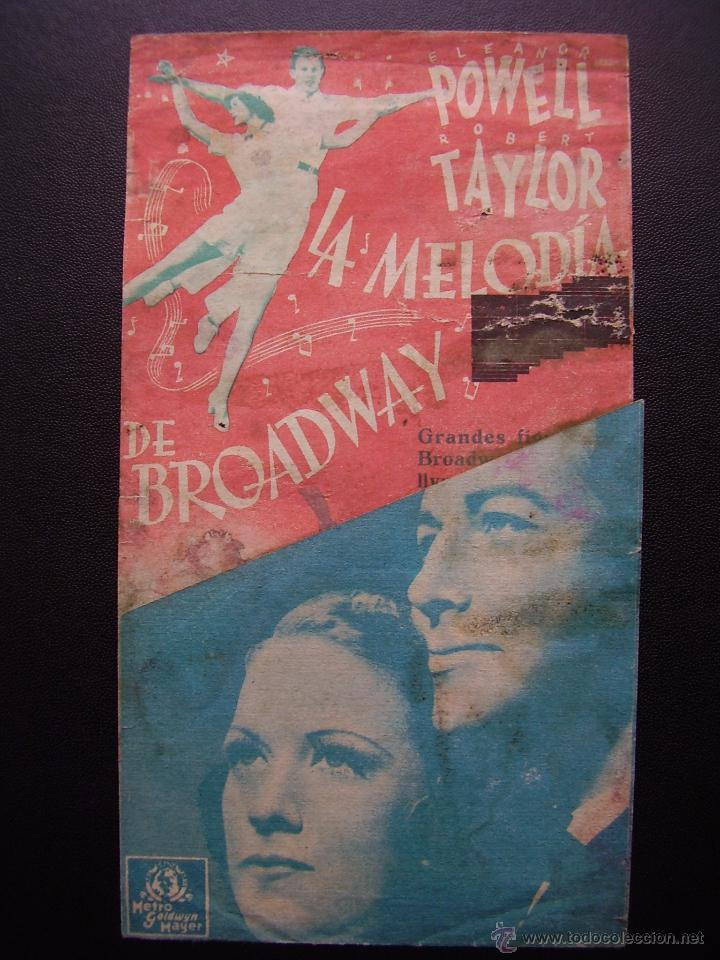 LA MELODIA DE BROADWAY, ELEANOR POWELL, ROBERT TAYLOR, GRAN TEATRO (Cine - Folletos de Mano - Musicales)