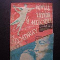Cine: LA MELODIA DE BROADWAY, ELEANOR POWELL, ROBERT TAYLOR, GRAN TEATRO. Lote 53196594