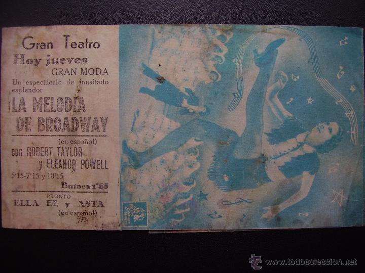 Cine: LA MELODIA DE BROADWAY, ELEANOR POWELL, ROBERT TAYLOR, GRAN TEATRO - Foto 2 - 53196594