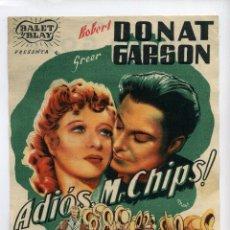 Cine: ADIOS MISTER CHIPS, CON GREER GARSON.. Lote 53244264