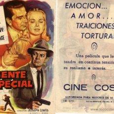 Cine: FOLLETO DE MANO AGENTE ESPECIAL. CINE COSO ZARAGOZA. Lote 53250638