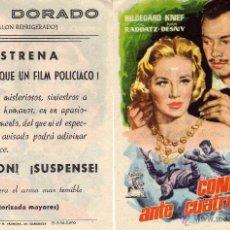 Cine: FOLLETO DE MANO CONFESION ANTE CUATRO OJOS. CINE DORADO ZARAGOZA. Lote 277423613