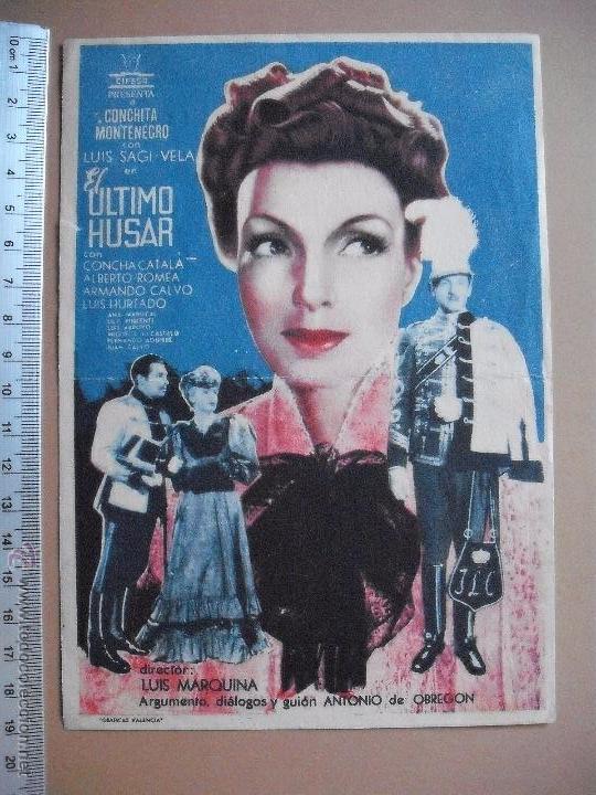 EL ULTIMO HUSAR -1941 (Cine - Folletos de Mano - Comedia)
