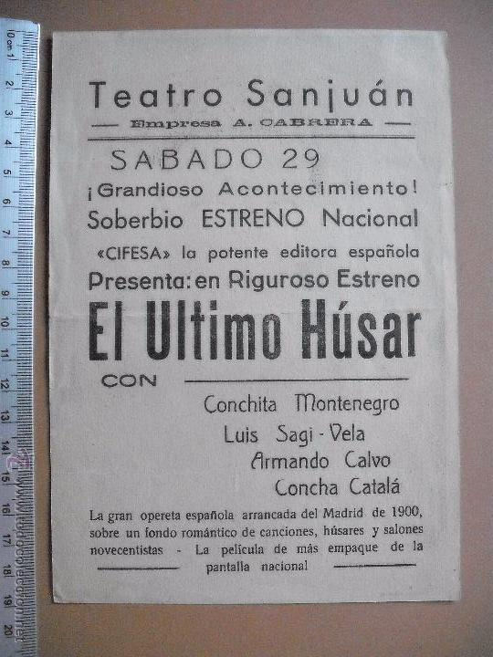 Cine: EL ULTIMO HUSAR -1941 - Foto 2 - 53281329