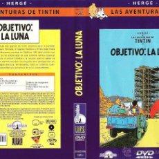 Cine: DVD LAS AVENTURAS DE TINTIN - OBJECTIU LA LLUNA - IDIOMAS - ESPAÑOL - INGLES - CATALAN. Lote 53281409