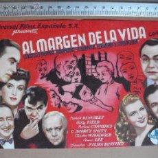 Cine: AL MARGEN DE LA VIDA - 1947. Lote 53282001