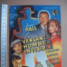 Cine: LA VENGANZA DEL HOMBRE INVISIBLE - 1946. Lote 53282366