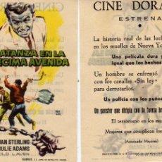 Cine - Folleto de mano Matanza en la decima avenida. Cine Dorado Zaragoza - 113743888