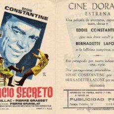 Cine - Folleto de mano Servicio secreto. Cine Dorado Zaragoza - 53313109