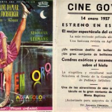 Cine: FOLLETO DE MANO SINFONIA EN ORO . CINE GOYA ZARAGOZA. Lote 53313479