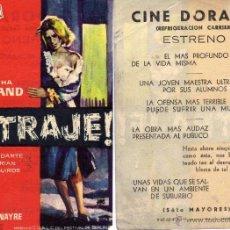 Cine: FOLLETO DE MANO ULTRAJE. CINE DORADO ZARAGOZA. Lote 54734411