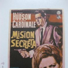 Cine: PROGRAMA DE CINE. MISION SECRETA. ROCK HUDSON, CLAUDIA CARDINALE.......UNIVERSAL. Lote 53317993