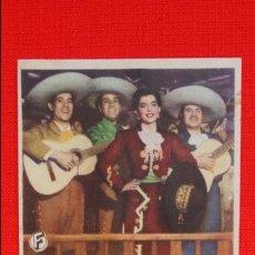 Folhetos de mão de filmes antigos de cinema: CANTA Y NO LLORES, SENCILLO EXCTE. ESTADO, IRMA VILA CARLOS LOPEZ, CON PUBLICIDAD TEATRO IRIS. Lote 53323444