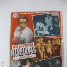 Cine: PROGRAMA DE CINE. TRAS SUS PROPIAS HUELLAS. ANTHONY QUINN, CHARLES COBURN....... Lote 53325760