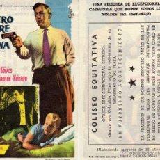 Cine: FOLLETO DE MANO NUESTRO HOMBRE EN LA HABANA . COLISEO EQUITATIVA ZARAGOZA. Lote 154101912