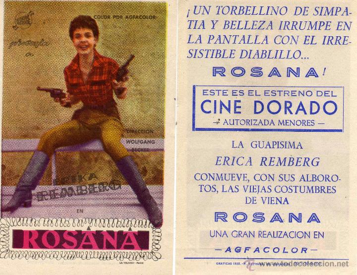 FOLLETO DE MANO ROSANA. CINE DORADO ZARAGOZA (Cine - Folletos de Mano - Comedia)