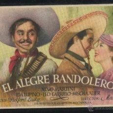 Cine: PROGRAMA ORIGINAL - EL ALEGRE BANDOLERO - CON PUBLICIDAD. Lote 53347121