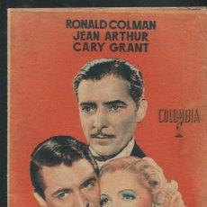 Cine: EL ASUNTO DEL DÍA PROGRAMA MANO DOBLE RONALD COLMAN CARY GRANT . Lote 53351859