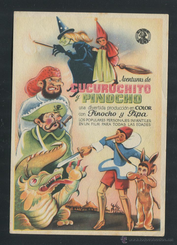 PROGRAMA AVENTURAS DE CUCURUCHITO Y PINOCHO (Cine - Folletos de Mano - Infantil)