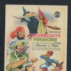 Cine: PROGRAMA AVENTURAS DE CUCURUCHITO Y PINOCHO. Lote 53374377